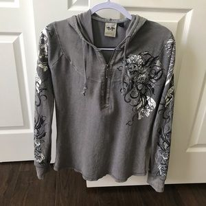 Ladies Harley Davidson thermal pullover.